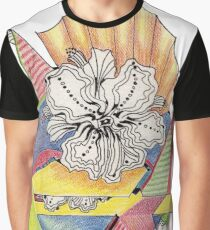 Flower Drawing Graphic T-Shirt