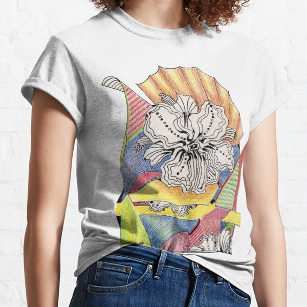 Flower Drawing Classic T-Shirt