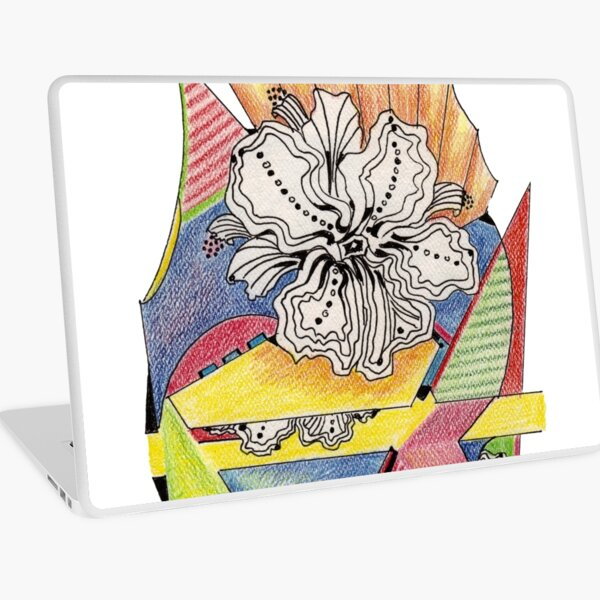 Flower Drawing Laptop Skin