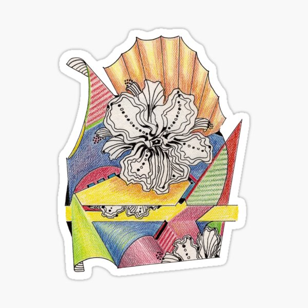 Flower Drawing Sticker