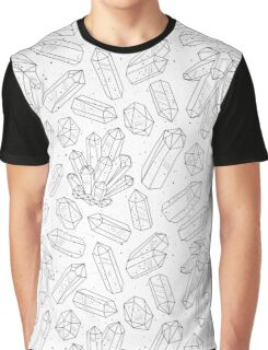 Crystals pattern black and white Graphic T-Shirt