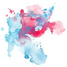 Abstract Watercolour Splash by Jacqui Frank