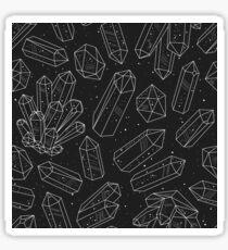 Crystals pattern dark Sticker