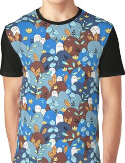 buddy pattern blue + brown Graphic T-Shirt