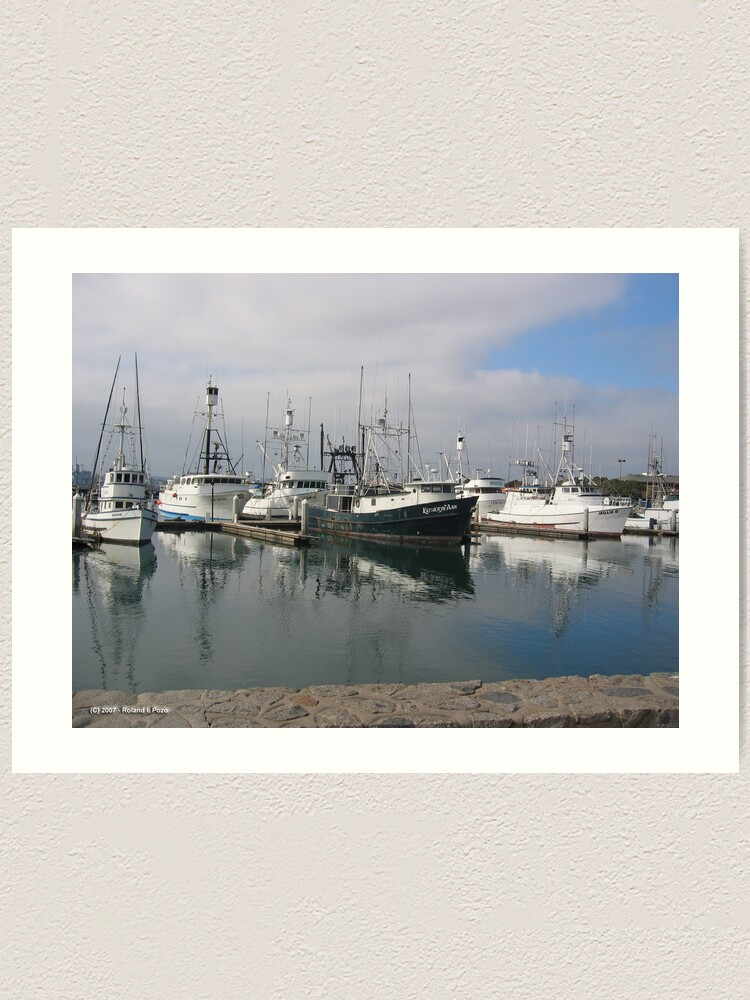 Alternate view of Trawlers Art Print