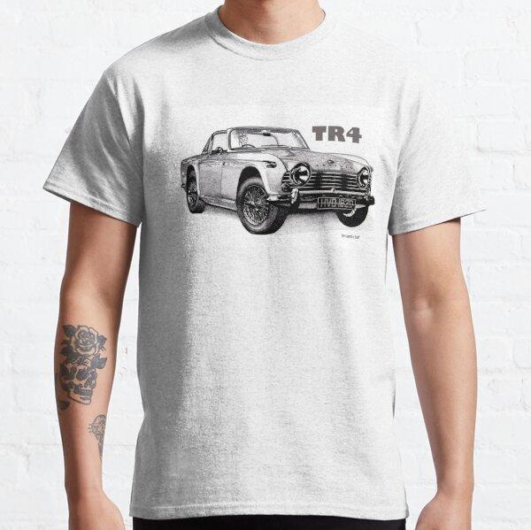 Original Art Sketch T-Shirt-TRIUMPH TR4 Cabriolet