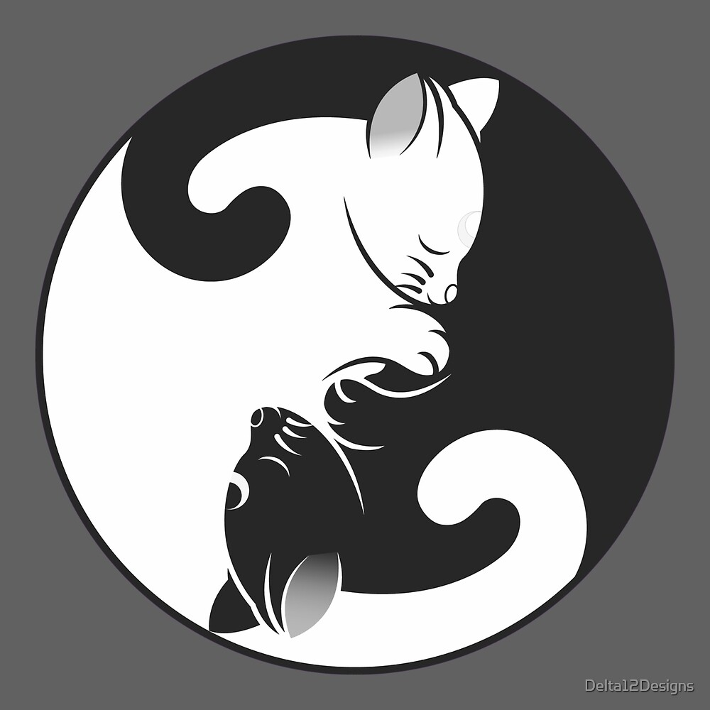 Cat Yin-Yang by Delta12Designs