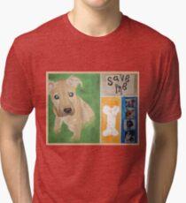 Save Me puppy Tri-blend T-Shirt
