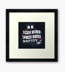 Doctor Who Catchphrases 2 Framed Print