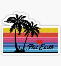 Flat Earth Designs - FLAT EARTH Love PALM TREE surf SURFER excellent Sticker