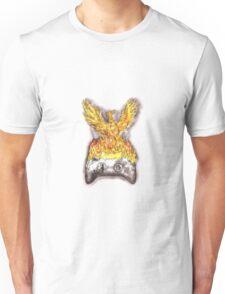 Phoenix Rising Over Burning Game Controller Tattoo Unisex T-Shirt