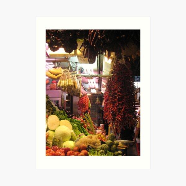 La Rumbla Market Art Print