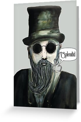 Steampunk guy by Jenny Wood