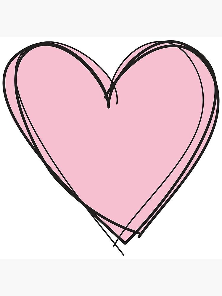 """Pastel Pink Heart"" Art Print by Lydiaaaaaaaa   Redbubble"