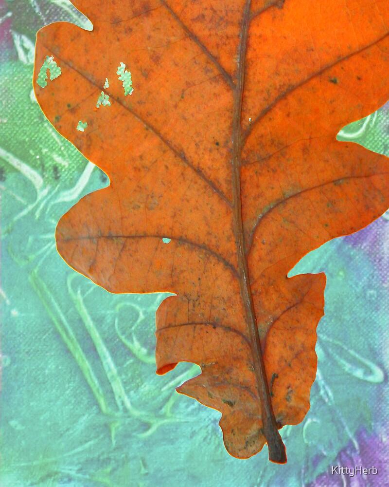 orange leaf 1 by KittyHerb