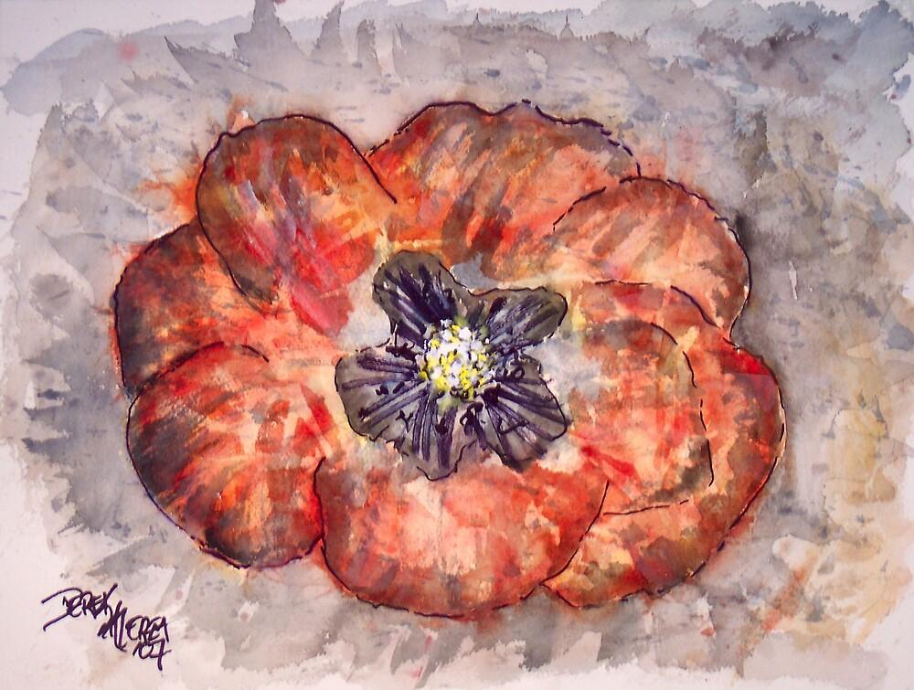 Abstract Poppy Flower by derekmccrea