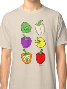 Colorful Bell Peppers Classic T-Shirt