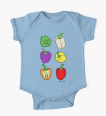 Colorful Bell Peppers One Piece - Short Sleeve