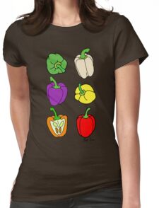 Colorful Bell Peppers Womens Fitted T-Shirt