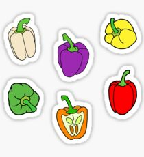 Colorful Bell Peppers Sticker
