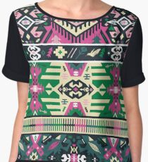 Colorful pattern in tribal style Chiffon Top