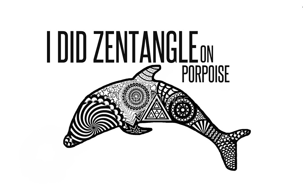 ZENTANGLE PORPOISE  by Diana Graves