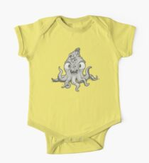 Baby Octopus in a Beanie, Being a Happy Dude. One Piece - Short Sleeve