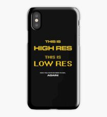 High Res Low Res iPhone Case