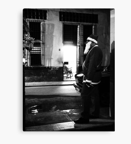 Cuban Santa Canvas Print