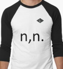 nothing,nowhere Text and Logo Men's Baseball ¾ T-Shirt