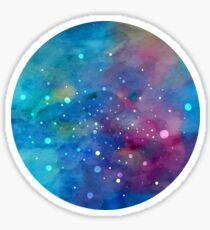 Colorful outerspace Sticker