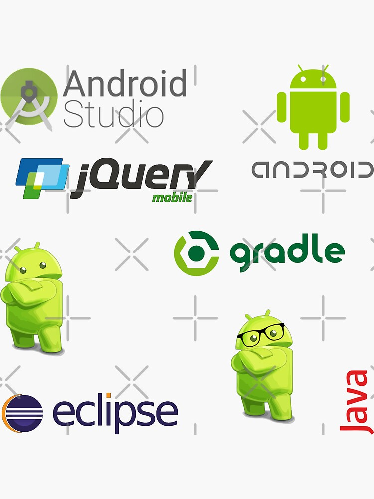 android sticker set de yourgeekside