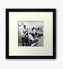 Cuban Barber Framed Print