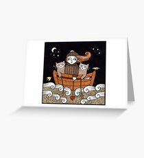 Kerrys Seafaring Kitties Greeting Card