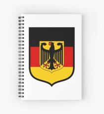 Germany Flag German Eagle Spiral Notebook