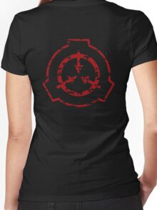SCP foundation symbol  Women's Fitted V-Neck T-Shirt