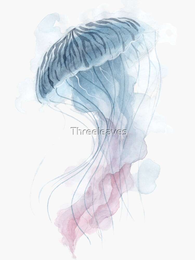 Aquarell-Quallen von Threeleaves