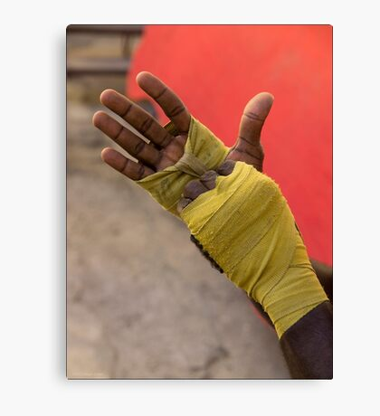 Boxer's Wraps Canvas Print