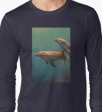 Bottle Nose Dolphins Long Sleeve T-Shirt