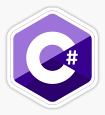 c # c sharp purple Sticker
