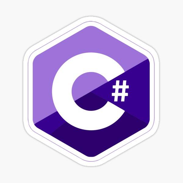 c # c sharp purple Sticker