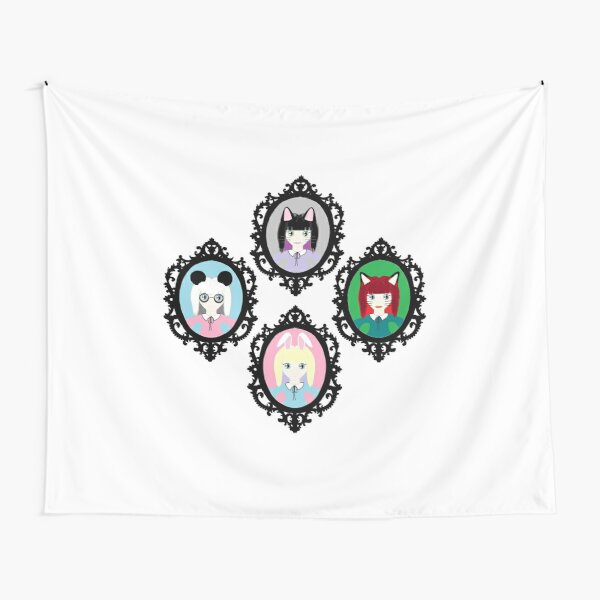 Kawaii Cosplay Girl - Bunny, Fox, Panda & Cat Tapestry