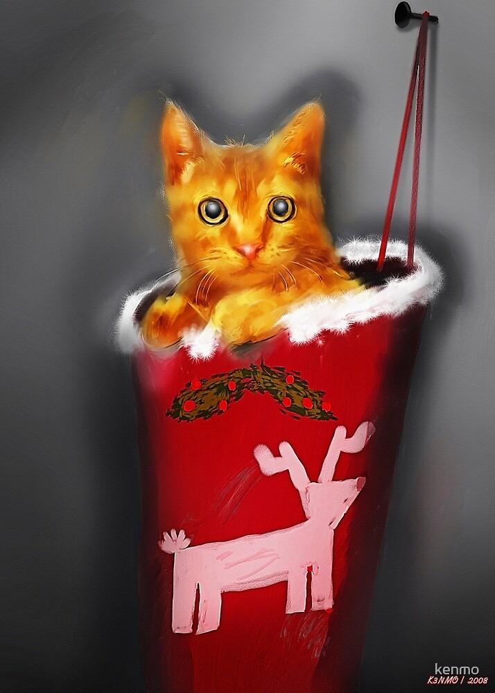 Christmas Kitten by kenmo