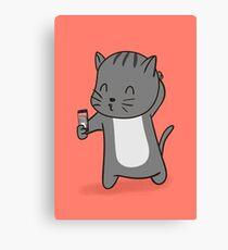 Selfie Kitty Canvas Print