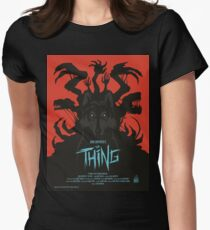 The Thing Classic Retro Poster Women's Fitted T-Shirt