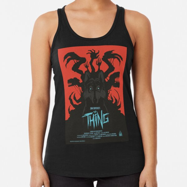 The Thing Classic Retro Poster Racerback Tank Top