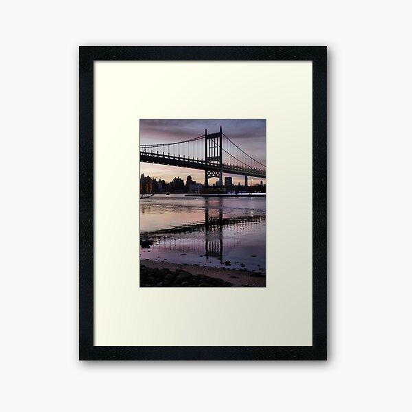 Winter Horizon - RFK Triborough Bridge Framed Art Print