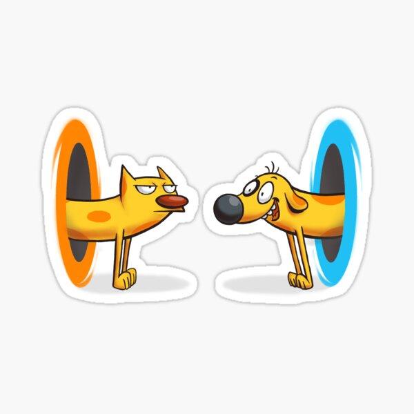 CatDog Portal - Cat Dog Pets - Nettes lustiges Tier - Videospiel Sticker