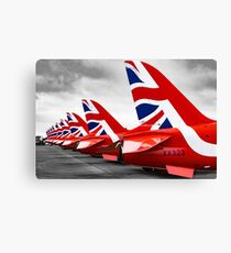Red Arrows Tails Canvas Print