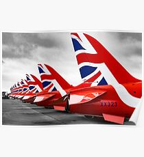 Red Arrows Tails Poster